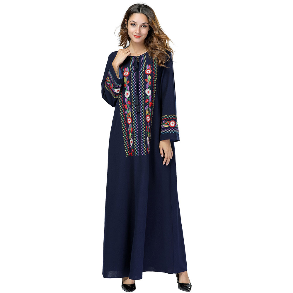 Modest Dress Arabic Kaftan Dresses Kaftan Dubai Bohemian Mexican Abaya Arab Vestidos Evening Muslim Girls Abaya Muslim Dress