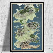 GAME OF THRONES WORLD MAP Movie Art Poster Canvas Painting Wall Picture Home Decor Posters and Prints(China)