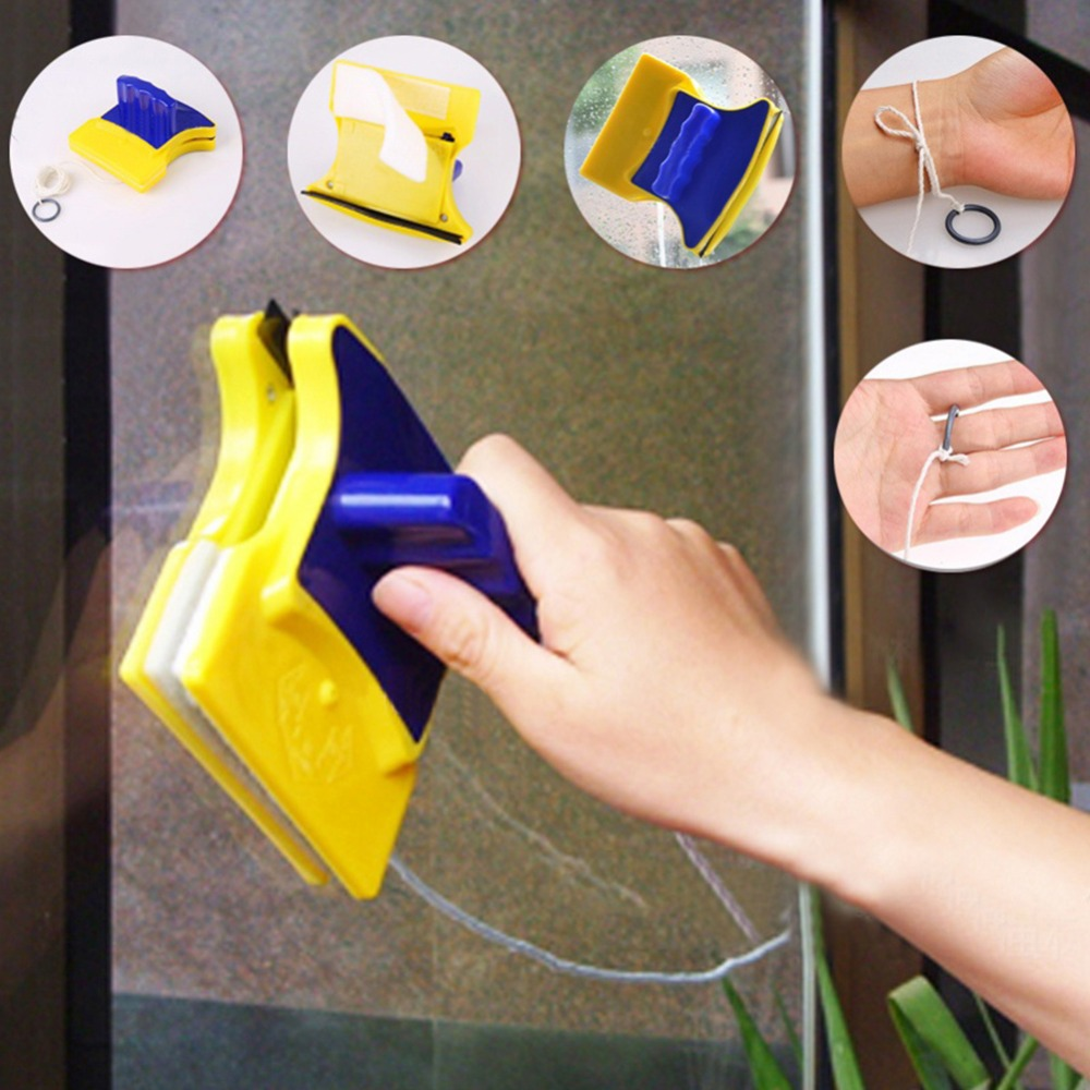 1pc Double Sided Magnetic Window Cleaner Glass Wiper Cleaning Brushes Useful Surface Brush For Car Window Drop Shipping