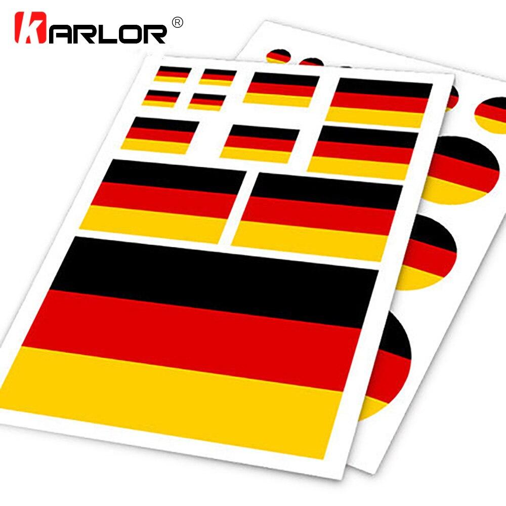 German Deutsch Flag Germany DE Ho Car Auto Motorcycle Decal Set Sticker Scratch Off Cover Ipad Notebook Laptop Handy Car Styling