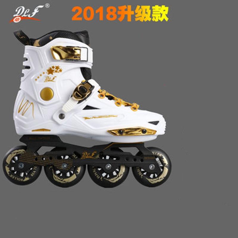 Slide Design Inline Slalom Skates For Sliding FSK Black White Golden Europe 35 to 44 85A