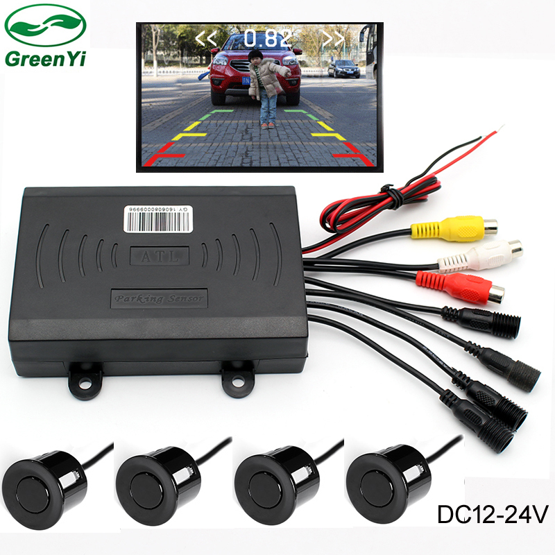 DC 24V Dual Core CPU Car Visible Video Parking Sensor For Truck Bus Caravan Vans, Display Image and Distance on LCD TFT Monitor hot sales for yamaha r1 fairings yzfr1 2007 2008 yzf r1 yzf r1 yzf1000 r1 07 08 red black abs fairings injection molding