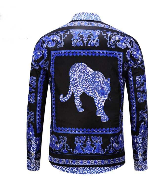 Luxury design Cotton Long Sleeve Men Dress shirt B6841