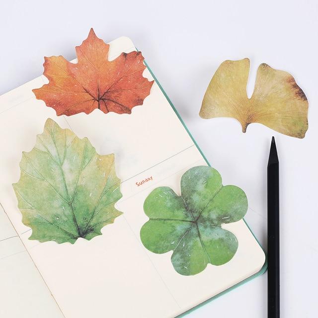 2 Bolsas/60 páginas caído hojas de acuarela Memo Bloc autoadhesivo ...