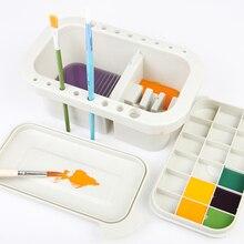 Wielofunkcyjny długopis z paletą gwasz akwarelowy akrylowy pędzel do mycia naczyń do rysowania artystycznego