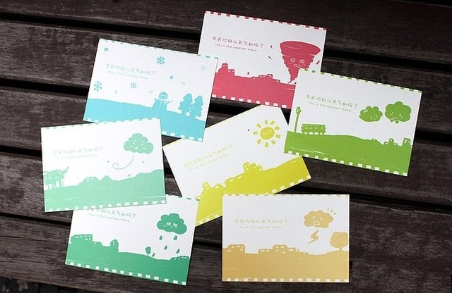 Hot selling business cards students giftcute weather original diy hot selling business cards students giftcute weather original diy fun card seteeting card colourmoves