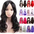 Glamour Queen New Top Shiny Party Wig Multicolor Long Straight Full Hair Wigs 10 Colors For Multi Sexy Dress