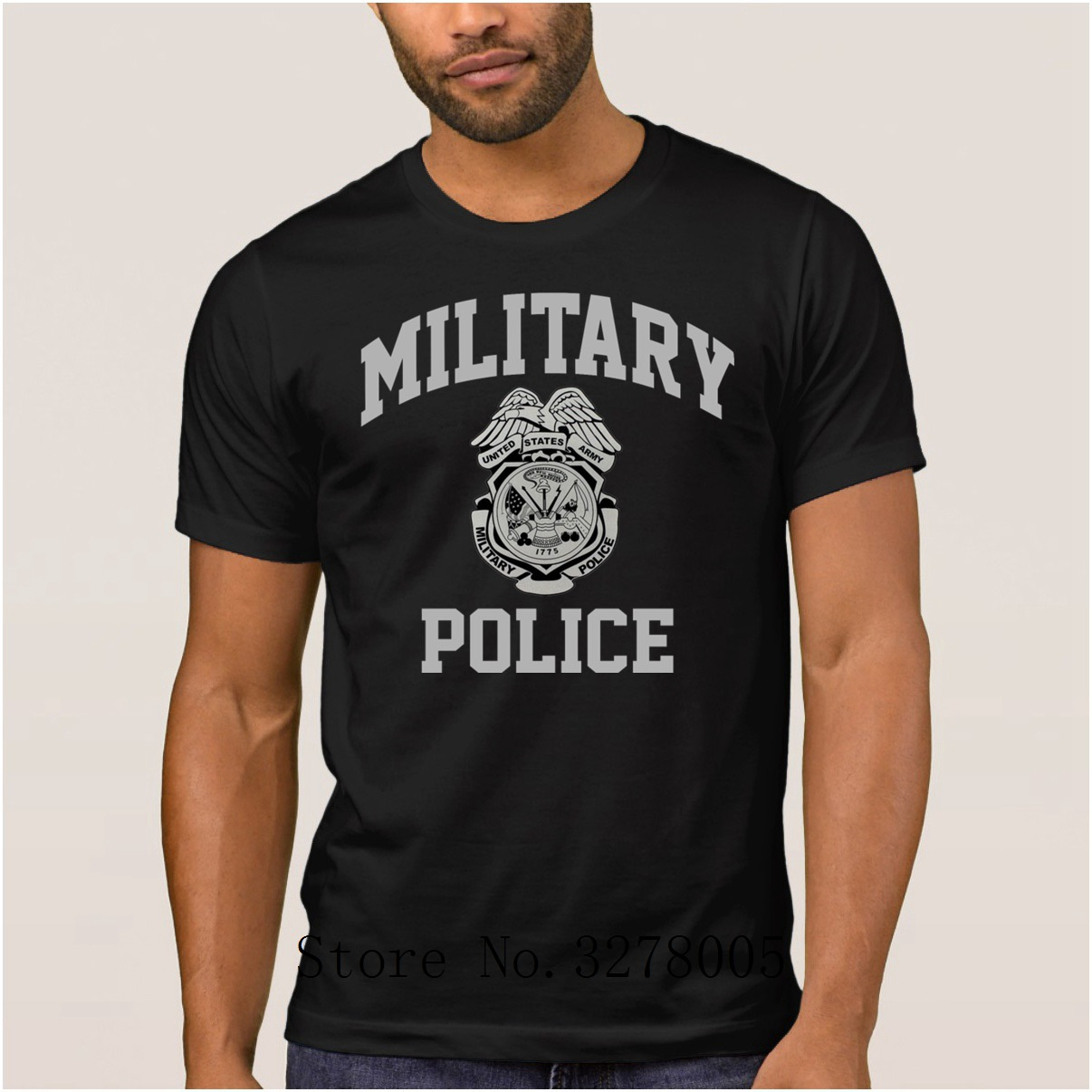 6a4f4a33 La Maxpa Custom Printed Clothing Famous Military Police T Shirts Funky Slim  Men T Shirt 2018 Cotton Simple Male Tee Shirt Tee-in T-Shirts from Men's ...