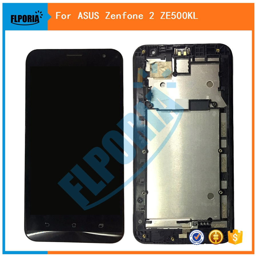 FLPORIA For ASUS Zenfone 2 <font><b>ZE550KL</b></font> <font><b>Lcd</b></font> Screen Display with Touch Digitizer Assembly With frame Free Shipping image