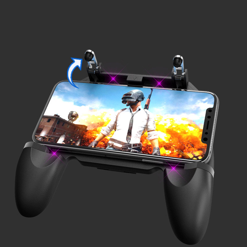 Image 4 - 3 in 1PUBG Smart Phone Mobile Gaming Trigger Pubg Controller Fire Button Aim Key L1 R1 Gaming Joysticks Mobile Gamepad-in Gamepads from Consumer Electronics