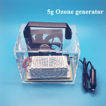 5g DC12V mini Ozone generator ozone Disinfection air purifier Smoke Odor for car