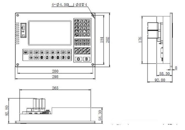 Contrôleur de découpeuse de Plasma de commande numérique par ordinateur de SZ-2012AH1 2 axes pour le contrôleur de coupe de commande numérique par ordinateur