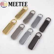 Meetee 5Pcs Detachable Metal Zipper Puller for 5# Sliders Pull Tab Repair Kits DIY Sewing Craft KY881