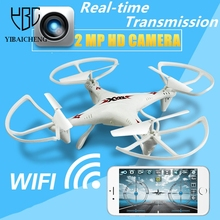 RC Drone With Camera HD WIFI Helicopter Quadcopter FPV Remote Control Toys 2MP Four-axis Aircraft Realtime Transmission For Kids