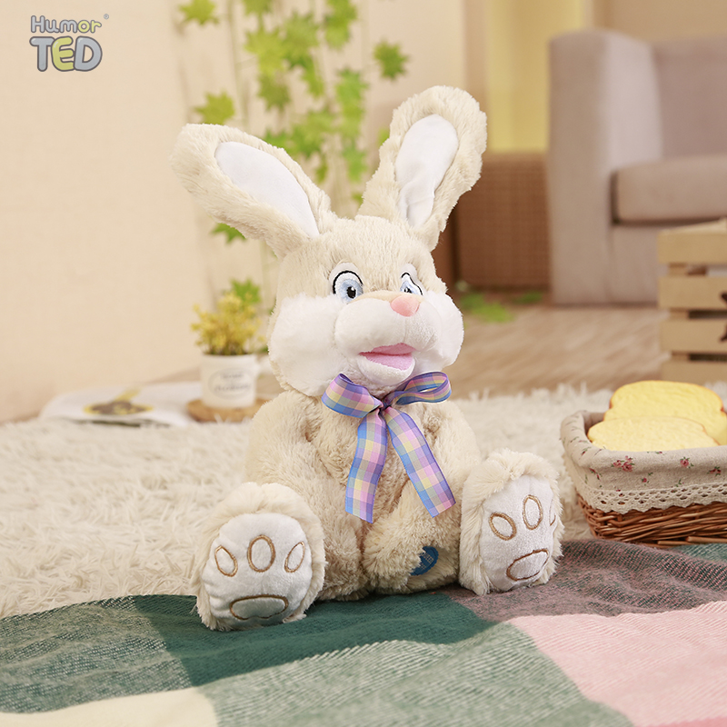 Flapping Ear  Bunny Talking Speaking Plush Toys Rabbit  Singsing Stuffed Animals  For Children Girls Boys Baby  TIARA