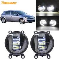 Buildreamen2 Car Styling LED Projector Fog Light Daytime Running Light DRL White H11 12V For Opel Astra G H 1998 2010