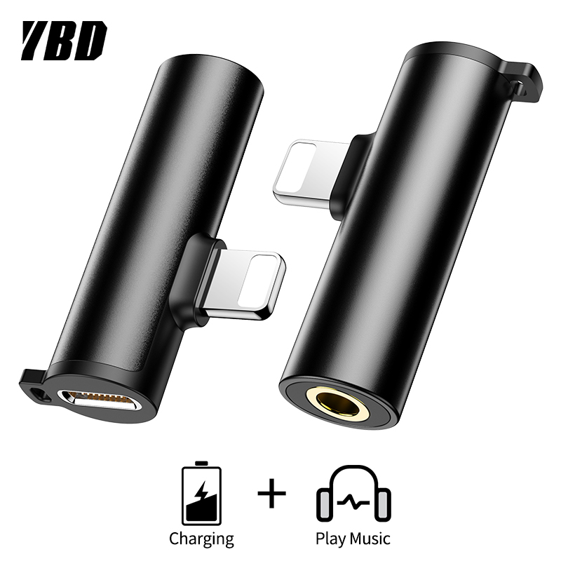 YBD Headphone Adapter for iPhone 7 /8/X/XS/XR/XS MAX Audifonos Adaptateur for iPhone AUX Jack Adapter Splitter Audio adaptador