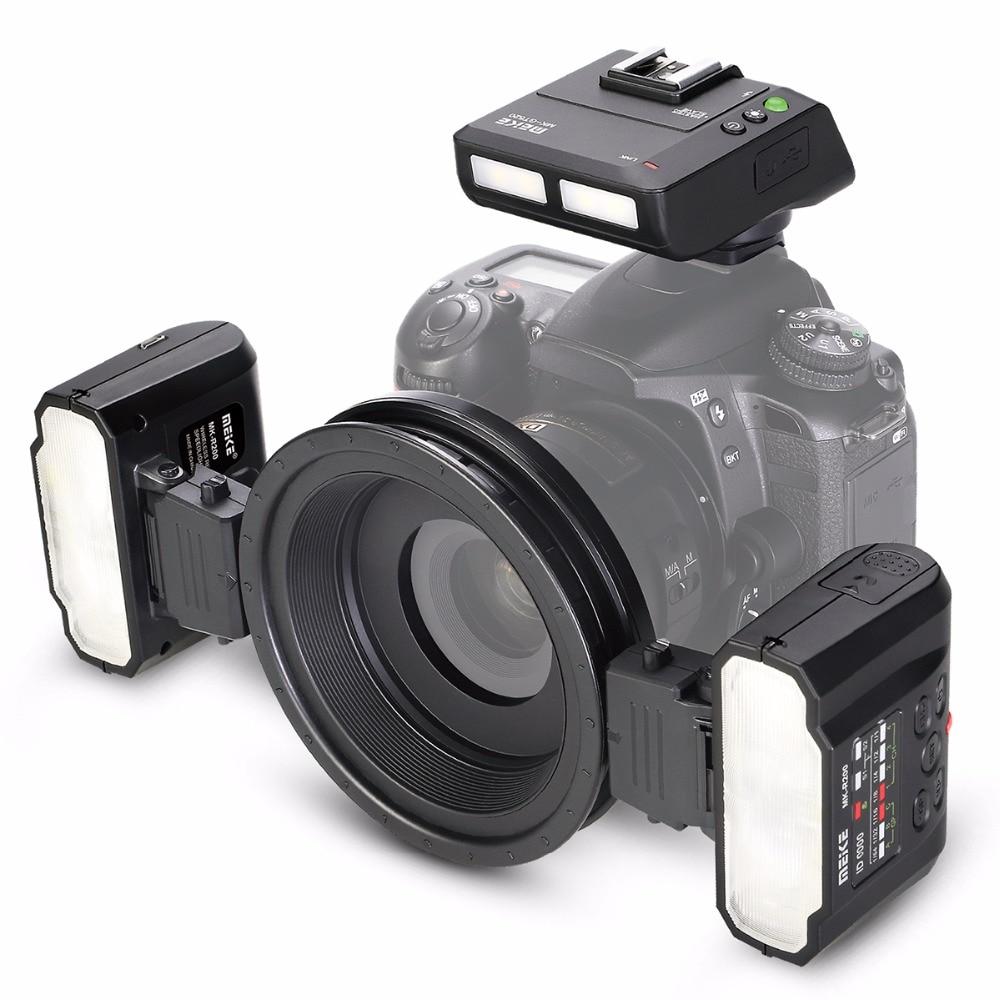 Meike MK-MT24 Macro Twin Lite Flash for NikonD80 D3100 D3200 D3300 D3400 D5000 D5100 D5300 D5500 D7000 D7100 Digital SLR Cameras dste dc111 en el14 battery charger for nikon d3200 d5200 d5300 df p7700 p7800 more slr cameras