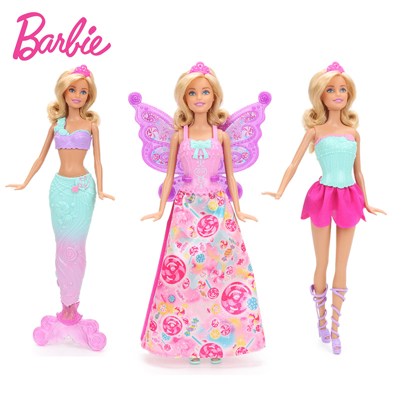 Original Barbie Dreamtopia Fairytale Dress Up Doll Feature Mermaid Barbie Doll The Girl A Birthday Present Girl Toys Gift DHC39 все цены