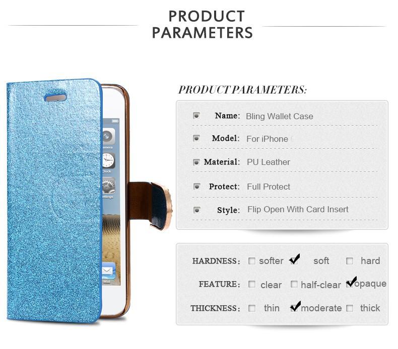 Kisscase dla iphone 5s case glitter bling skórzane etui dla iphone 5 5s se 6 6 s 7 plus stań portfel pokrywa dla iphone 7 7 plus SE 2