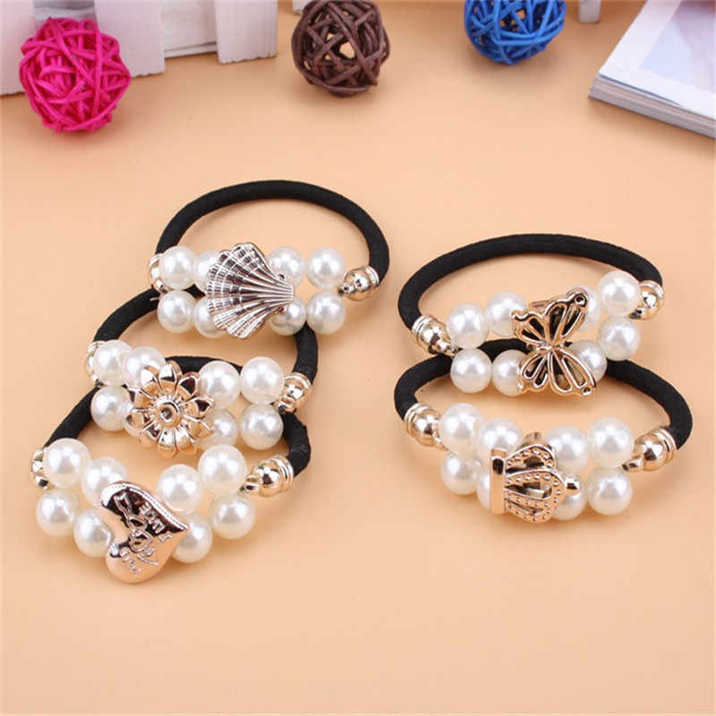 Limited Promotion Adult Headband Floral Rayon Women Fashion Pearls Bow Elastic Hair Bands For Girls Crown Hair Accessories