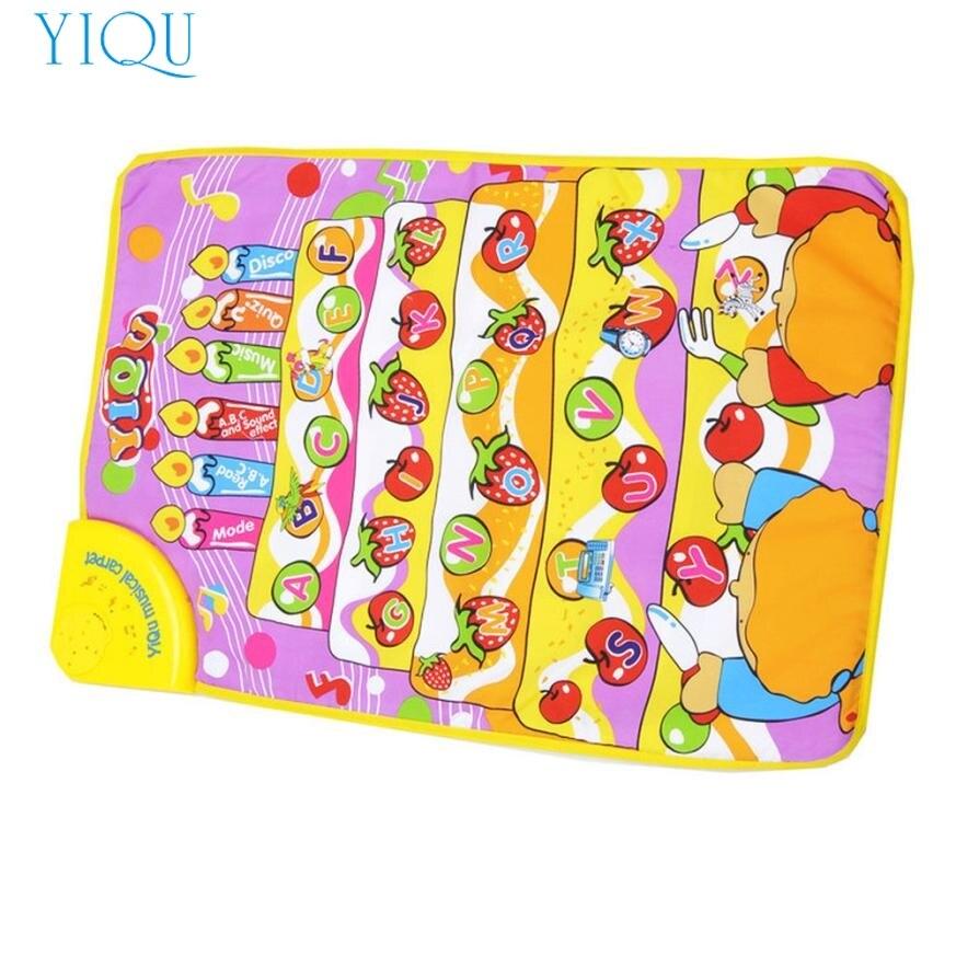 YIQU Touch Play Keyboard Musical Music Singing Carpet Mat Kids Baby Toy Gift Dec27