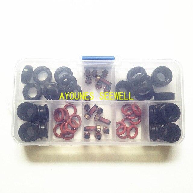 Kit de reparación de inyectores de combustible de 64 piezas Orings filtros grommets para yamaha outboard 115HP INP-771 CDH210 cdh275 (AY-RK053-2)