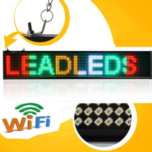 P5 SMD Led sign Android mobile wireless remote control programmable scroll news Led display board (mixed color)