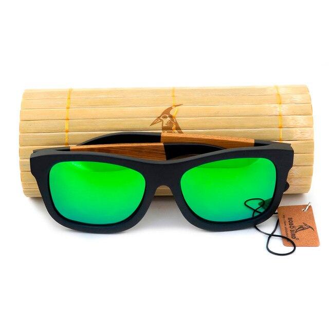 БОБО ПТИЦА Марка мужская Деревянные очки Поляризованные Натурального Дерева Солнце Ретро очки для Мужчин и Женщин Причинные Солнцезащитные Очки в качестве Подарков 2017