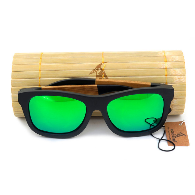 BOBO BIRD Brand Men's Wooden sunglasses Polarized Real Wood Sun Glasses Retro for Men and Women Causal Sunglasses as Gifts 2017