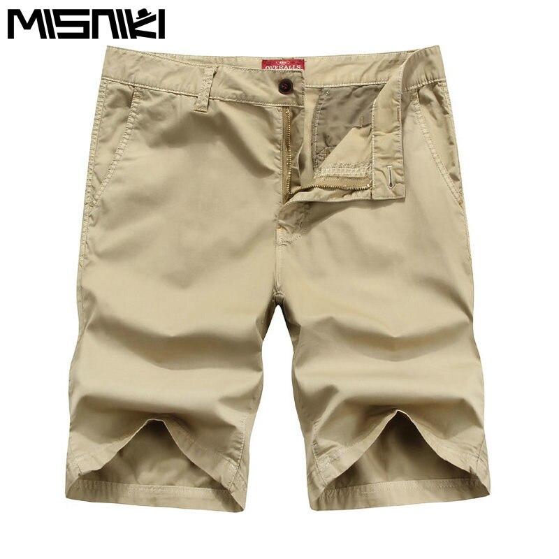 MISNIKI Brand Summer Casual Shorts Men Casual Slim Fit Cotton Mens Beach Shorts Homme