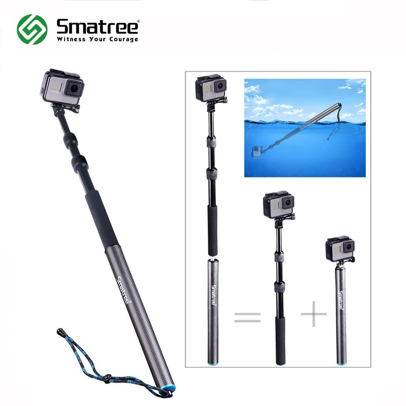Smatree S3 Detachable Extendable Floating Pole for GoPro Hero Fusion7/6/5/4/3+/3/2/1/Session/GOPRO (2018),Action ,HD Cameras все цены