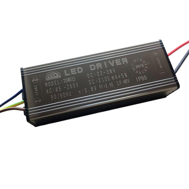LED נהג 10W 20W 30W 50W 70W מתאם שנאי AC85V-265V כדי DC22-38V IP65 אספקת חשמל 300mA 600mA 900mA 1500mA 2100mA