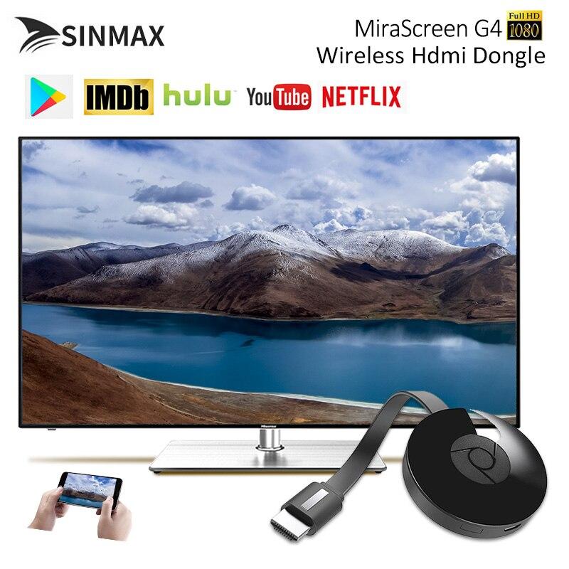G4 WiFi pantalla dongle para Google Chromecast 2 para Netflix YouTube Crome cromo Cromecast para Mirascreen adaptador HDTV