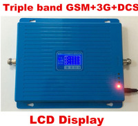 LCD Display Tri Band Booster GSM 900 DCS 1800MHZ 3G 2100MHZ Cellphone Mobile Phone Signal Amplifier