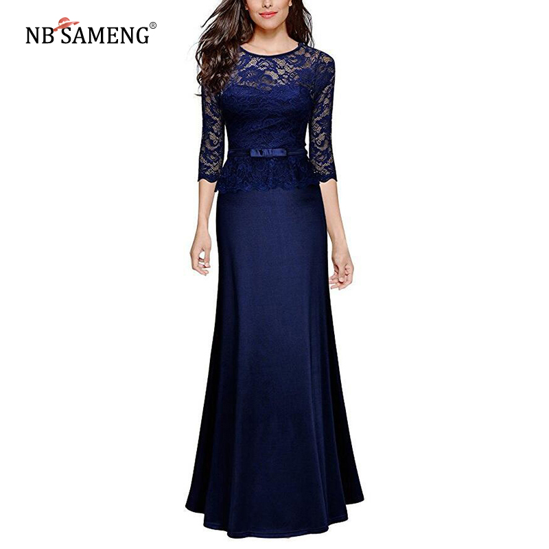 Sexy Lace Maxi Dresses Women Elegant Evening Party Gown Long Dress Floor Length Formal Dress Vestido de festa