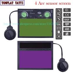 Welding mask 4 Arc sensor screen 90cmx110cm Solar energy screen TIG welding caps MIG welding hood MAG  helmet screen  New 2017