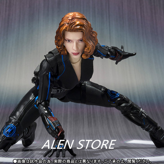 ALEN Age of Ultron Black Widow Tamashii Nations S.H.Figuarts SHF AVENGERS 2 Movable PVC Action Figure Collection Model Kids Toy 1 6 scale avengers age of ultron wanda scarlet witch full set action figure war version for collections