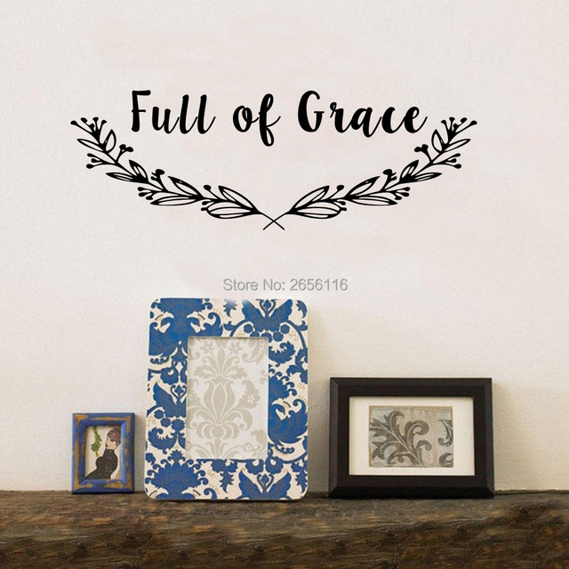 Aliexpresscom Buy Family Wall Quotes Decal Full Of Grace
