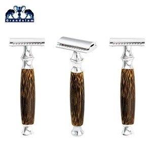 Image 4 - Tweesnijdend Scheermes met Lange Natuurlijke Bamboe Handvat Ervaring EEN Beter Scheren Grandslam Vriendelijke Grooming 10 Blades