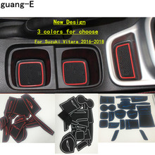 цены High quality SUZUKI Vitara 2016  car cover stick ABS inside inner middle Shift Stall Paddles cup switch frame lamp trim 1pcs