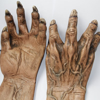 X MERRY Halloween Props Men S Monster Gloves Long Horror Hands Haunted House Costume Accessory