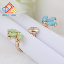 Fashion jeruk double open ring with crystal ,fashion punk ring кольцо fashion ring 3colors double fingers ring