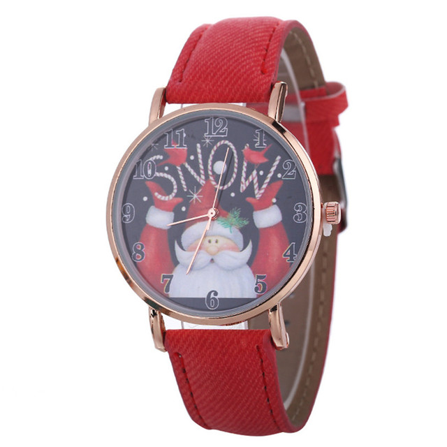 Women Female Santa Claus Pattern Watch Fashion Quartz wristwatches Christmas Gifts Dropshipping Wholesale High Quality 5