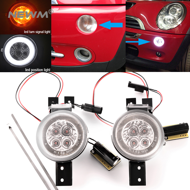 Clear Lens 2 IN 1 LED Turn Signal Light For Mini R50 02-06 R52 04-08 R53 02-06Clear Lens 2 IN 1 LED Turn Signal Light For Mini R50 02-06 R52 04-08 R53 02-06
