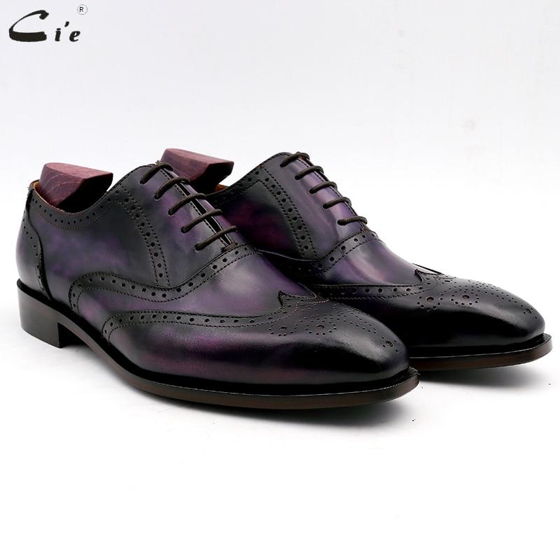 c411ad6d Del Vestir Cie 6 Brown Mano N° Cuero Hecha Oficina Formal Patina A Hombres  Outsole ...