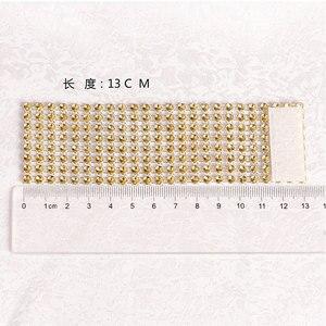 Image 3 - 100 個のラインストーンナプキンリング結婚式のテーブルデコレーション用祭パーティー用品結婚式タオルリング家の装飾のため
