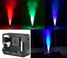 新到着1500ワットdmx ledフォグマシンpyro垂直スモークマシン24 × 9ワットプロ噴霧器ステージ機器