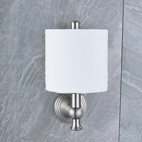 Wholesale And Retail Wall Mounted Bathroom Toilet Paper Holder Solid Brass Nickel Brushed Finished