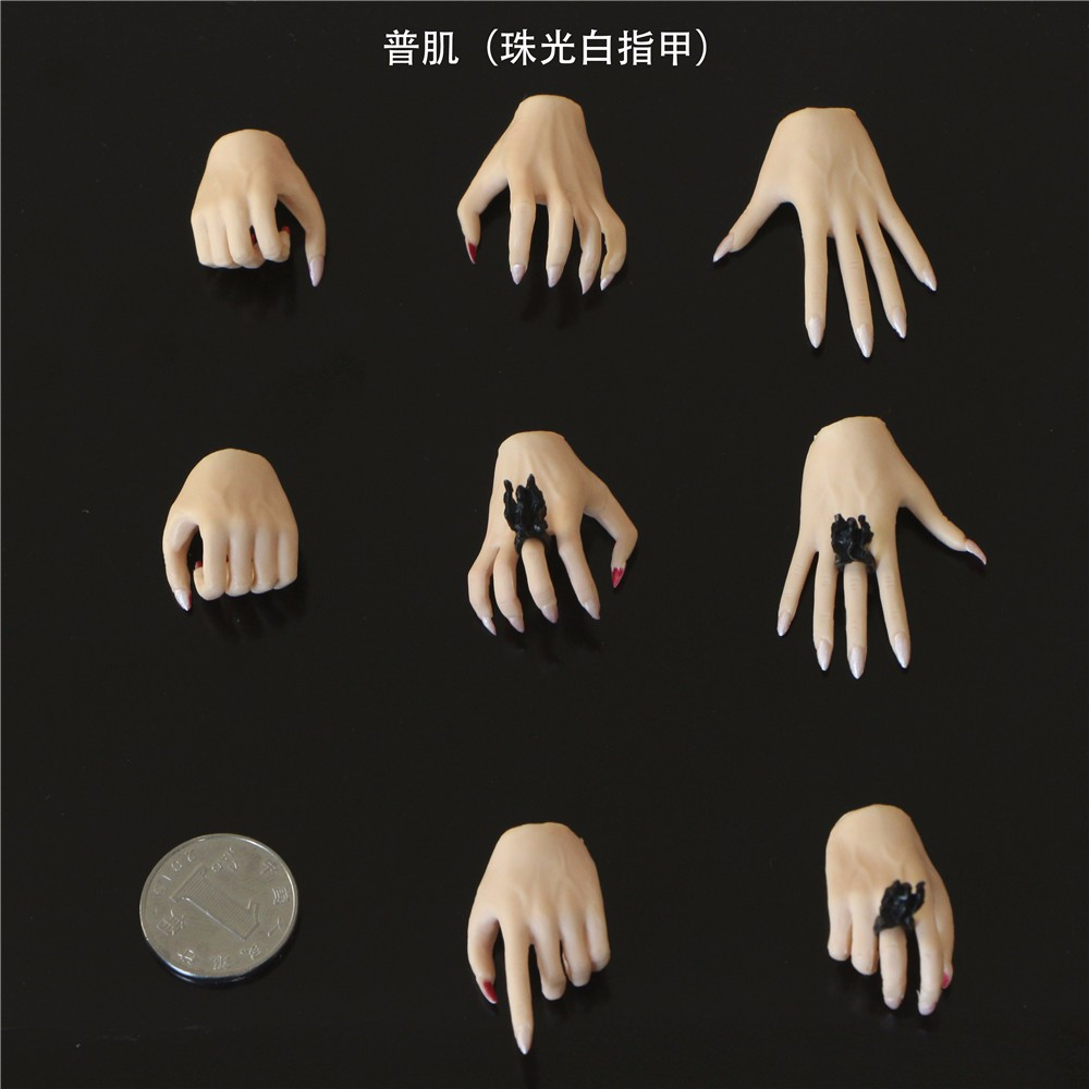 """Adapter Set For 12/"""" Male Figure 1//6 Scale Erect middle finger Hand"""